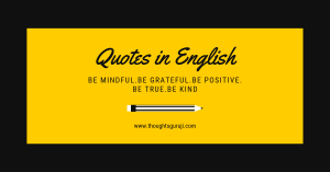 Quotes in English