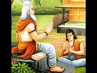 Moral Stories- A Saint with a student Learning the Dhanurvidya.